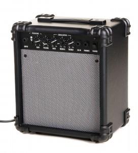 Small practice guitar amp